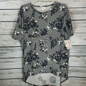 NWT LulaRoe Irma floral print short sleeve tee XS